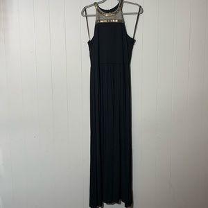 APT 9 Black Beaded Halter maxi Dress